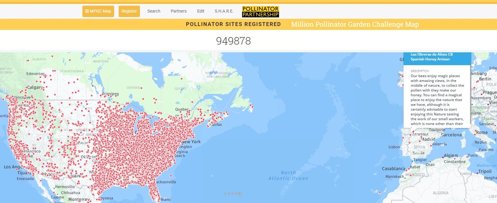 Million Pollinator Garden Challenge Las Obreras de Aliste CB Artesanos de la miel