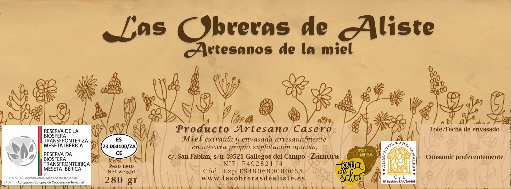 01 etiqueta gourmet Las Obreras de aliste cb miel zamora