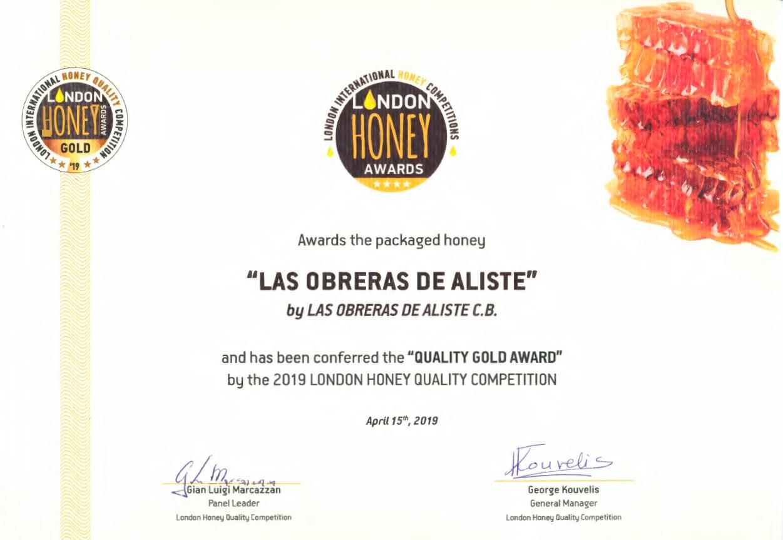LIHA London International Honey Award Las Obreras de Aliste CB Artesanos de la Miel Aliste Gallegos del Campo Artesanos de la Miel