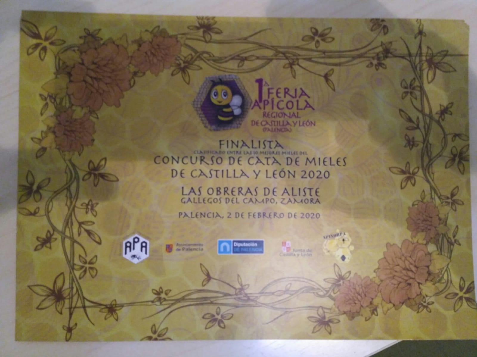 I concurso mieles Castilla y León Las Obreras de Aliste CB Artesanos de la Miel