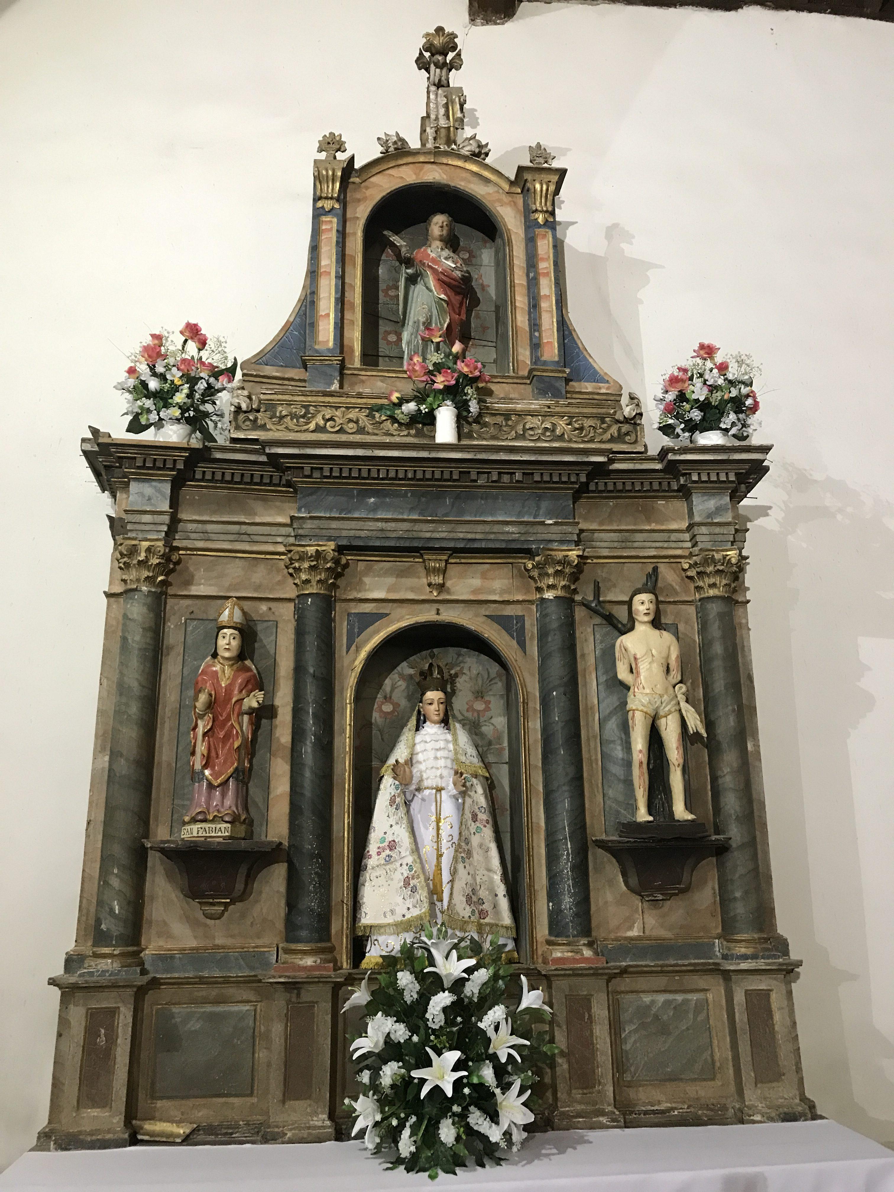 Retablo Iglesia Gallegos del Campo Aliste Zamora miel